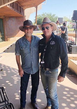 Tony Cook with John Willamson