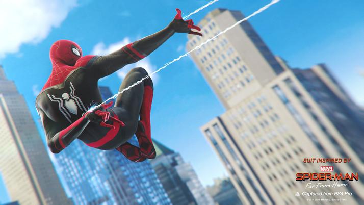 Marvel's Spider-Man recebe os novos trajes do filme.
