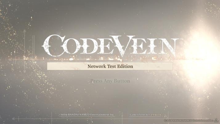 CODE VEIN Network Test Edition - Impressões