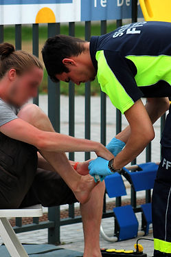 FFSS Intervention pour blessure au poste de secours principal
