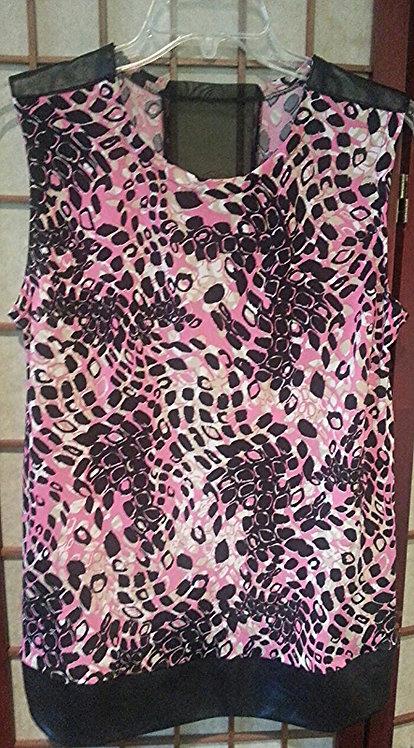 Pink Sheer Cross Top