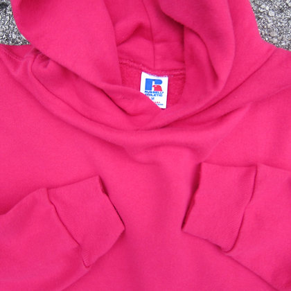 90s Russell Athletic Hot Pink Hoodie - M