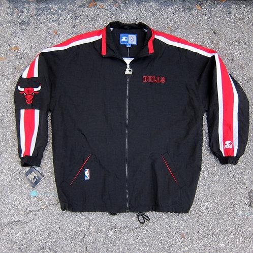 90s Chicago Bulls Starter Windbreaker Jacket - XL