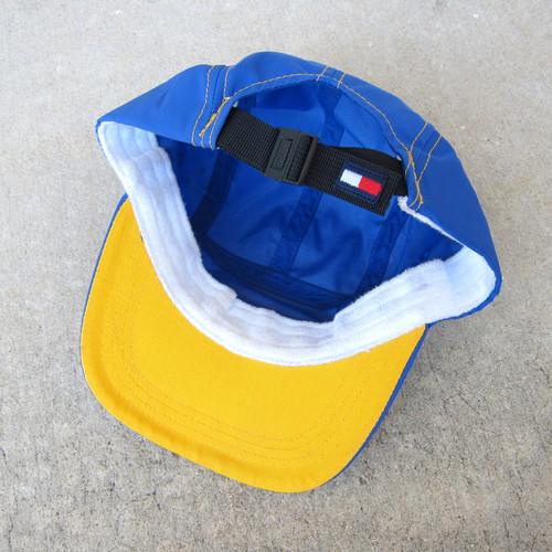 138b9739 90s Tommy Hilfiger Royal Nylon 5 Panel Hat