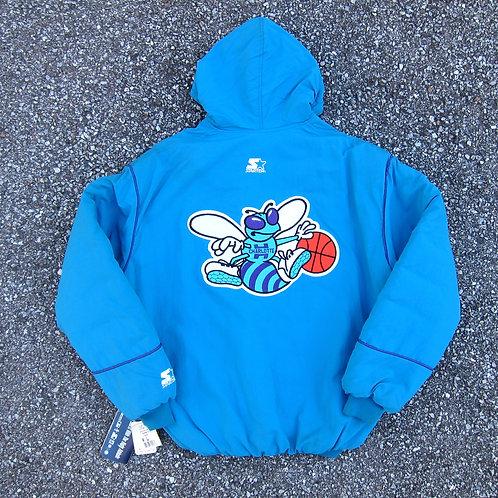 90s Charlotte Hornets Starter Winter Jacket - XL