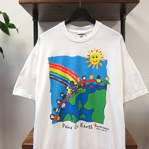 90s Peace on Earth Save the Children Tee - XL