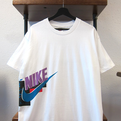 90s Nike White Abstract Graphic Tee - XL
