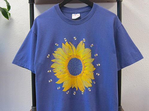 90s Purple Sunflower Tee - M