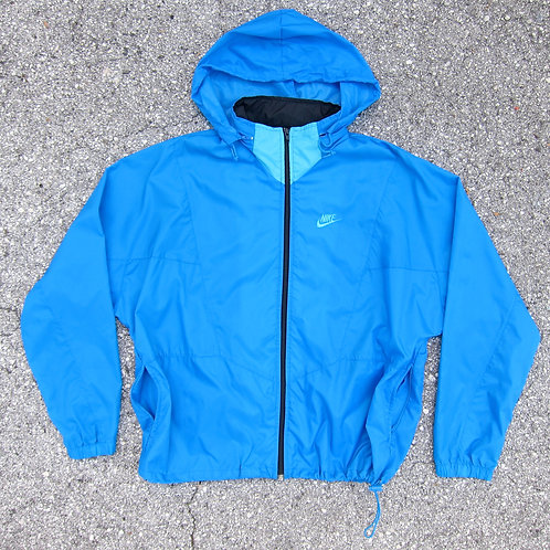 90s Nike Photo Blue & Aqua Nylon Windbreaker - XL