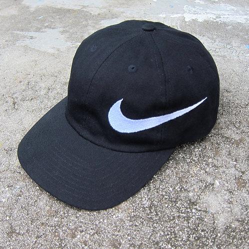 90s Nike Black Big Swoosh Hat