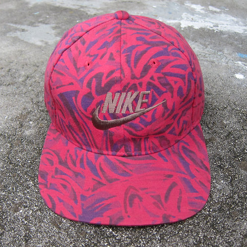 90s Nike Fuschia Floral 6 Panel Hat