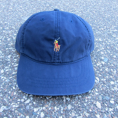 90s Polo Sport Navy Blue 6 Panel Hat