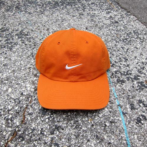 6cd76b17 90s Nike Burnt Orange Cotton 6 Panel Hat