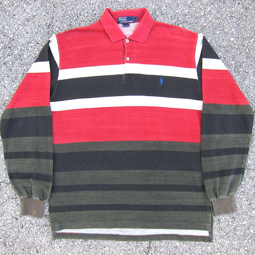 90s Polo Ralph Lauren Fade Stripe Collared Shirt - L