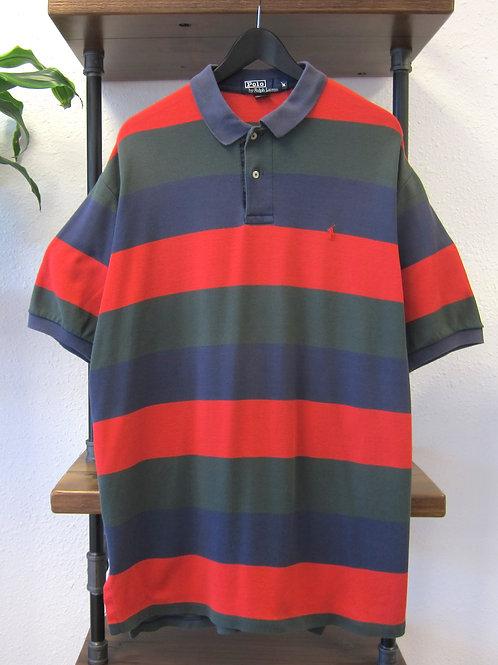 90s Polo Ralph Lauren Multi Striped Collared Shirt - XL