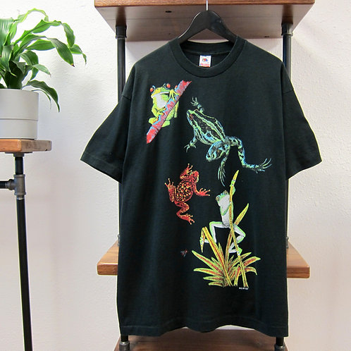 90s Frogs All Over Print Tee - XL