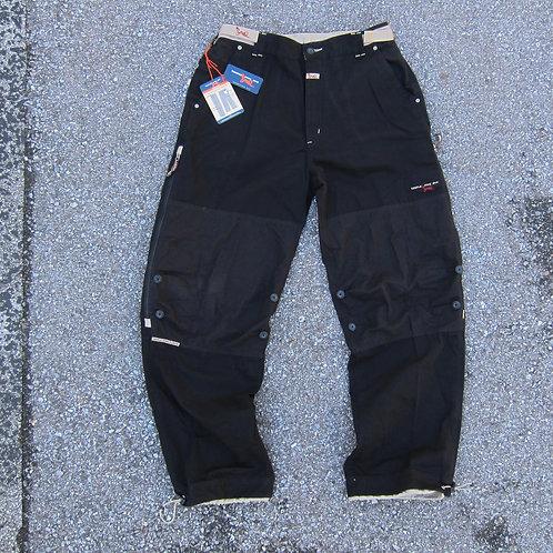 90s Triple Five Soul Black Multi Cargo Pants - 36x32