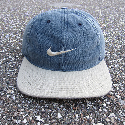 90s Nike Two Tone Denim 6 Panel Hat