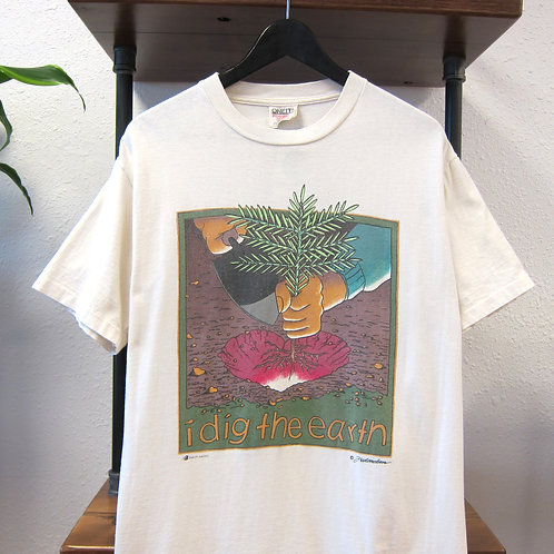 90s I Dig The Earth Tee - M