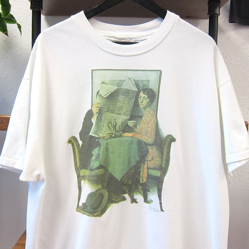 Early 90s Norman Rockwell Art Tee - XL