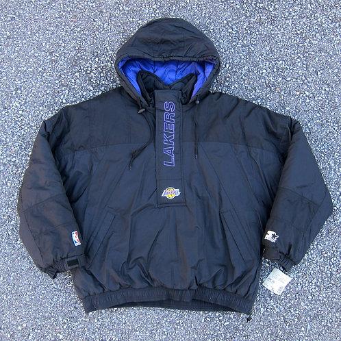 90s LA Lakers Starter Winter Jacket - XL