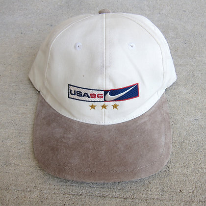 '96 Nike USA Cream 6 Panel Hat