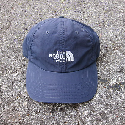 90s The North Face Navy Nylon 6 Panel Hat