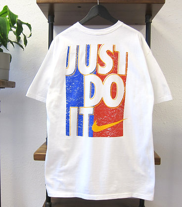 90s Nike White Just Do It Big Graphic Tee - XL