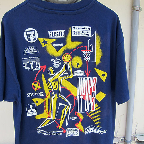 90s Champion USA Hoop It Up Promo Tee LXL
