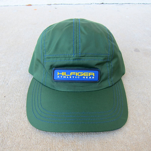 90s Tommy Hilfiger Forest Green Nylon 5 Panel Hat