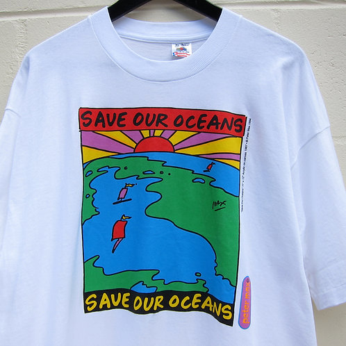 90s Save Our Oceans Peter Max Art Tee - XL