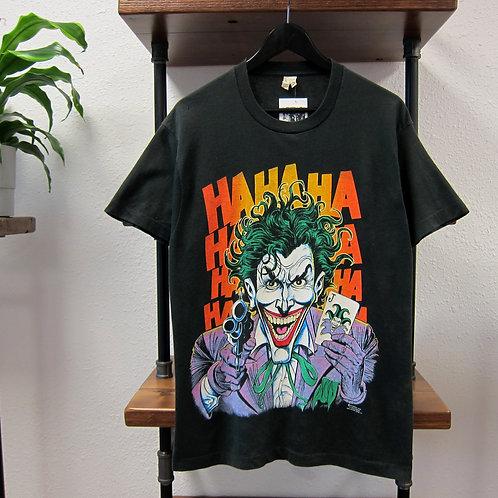 1989 The Joker Black 50/50 Tee - M/L