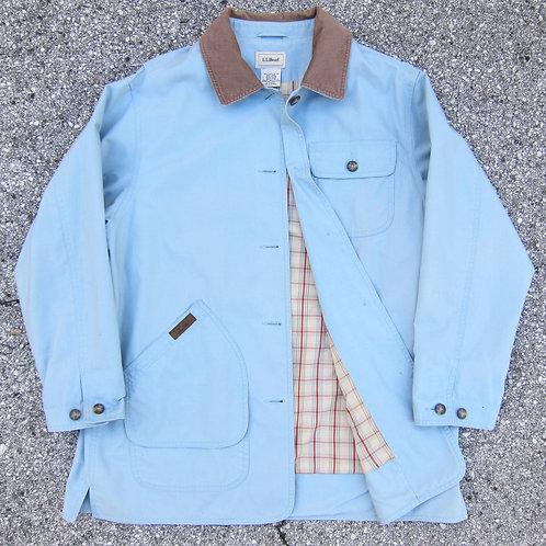 90s L.L. Bean Powder Blue Cotton Barn Jacket - L