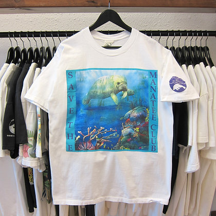 90's Save The Manatee Tee - L/XL