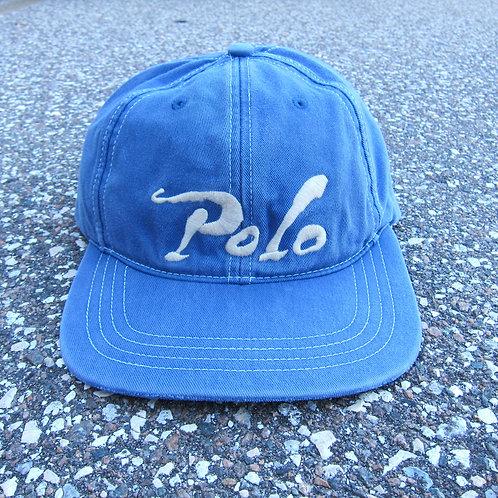 90s Polo Ralph Lauren Slate Blue 6 Panel Hat