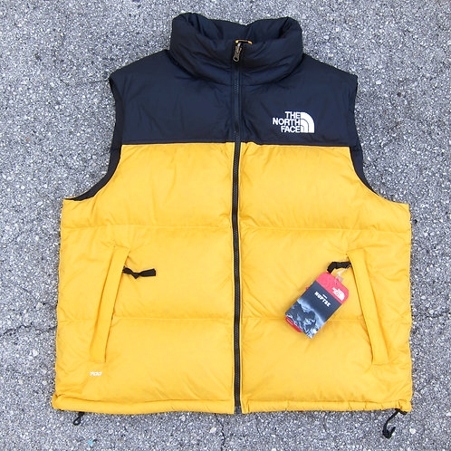 Retro '96 The North Face Yellow 700 Fill Nuptse Vest - XL