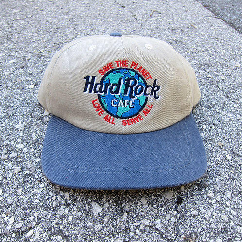90s Hard Rock Save The Planet 6 Panel Hat