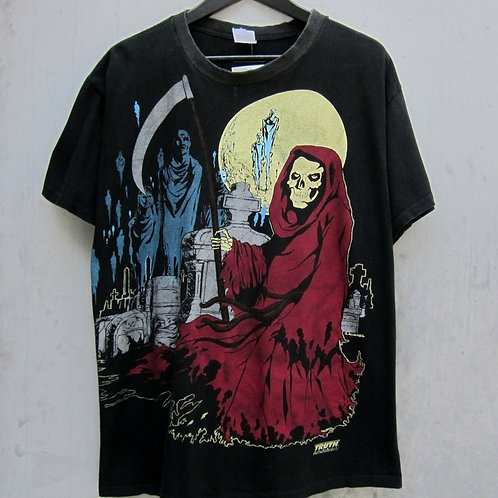 90s Grim Reaper All Over Print Tee - XL