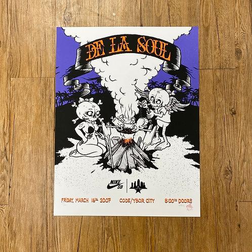 2007 Nike Sb x Todd Bratrud Promo De La Soul Poster
