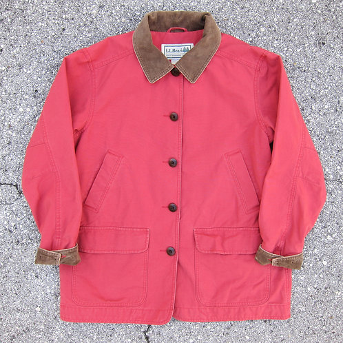 90s L.L. Bean Scarlet Cotton Barn Jacket - M/L