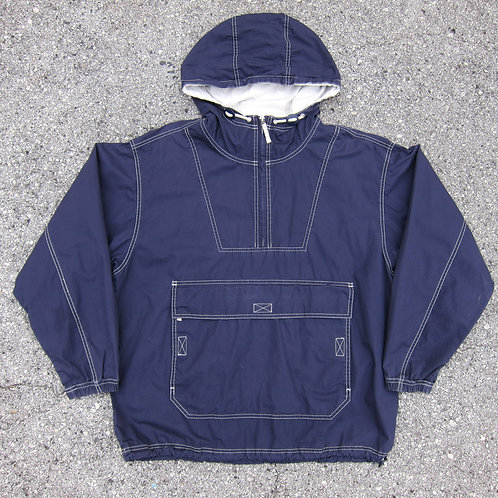90s Gap Navy Cotton Contrast Stitch Anorak - M/L