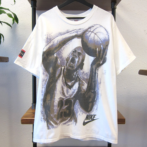 90s Nike Air Jordan White Dunk Tee - L