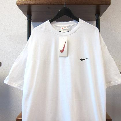 90s Nike White Mini Swoosh Tee - XL/XXL