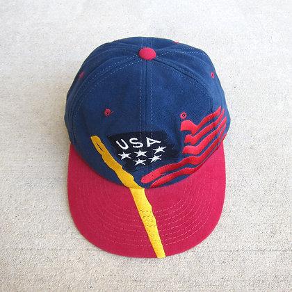 90s Champion USA Flag 6 Panel Hat