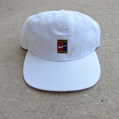 90s Nike White 6 Panel Tennis Hat