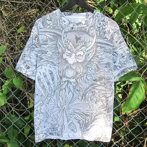 90s Dark Wizard All Over Print Tee - M