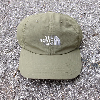 90s The North Face Olive Nylon 6 Panel Hat