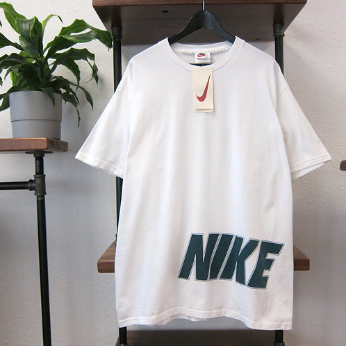 90s Nike White Front & Back Graphic Tee - L/XL