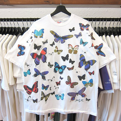 90's Butterfly All Over Art Tee - XL