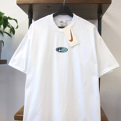 90s Nike White Embroidered Tee - XL